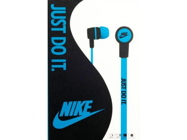 Наушники Nike с заушинами на жесткой дуге цвет голубой
