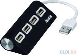 USB Hub 4-х портовый Hama TopSide черный (012167)