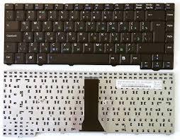 Клавиатура ноутбука Asus F3/ PRO31/ X52/ 24 pin черная