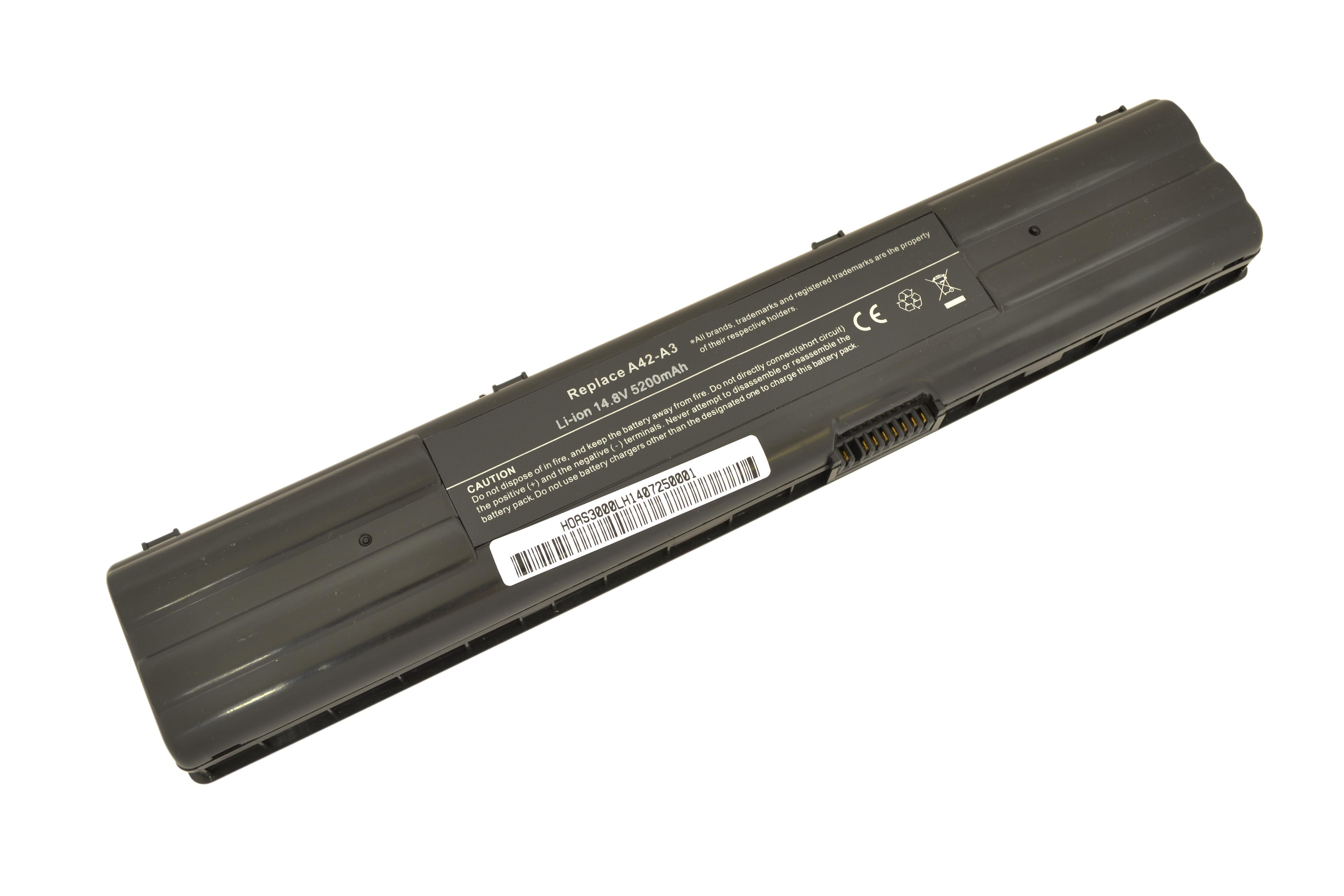 Аккумулятор ноутбука Asus A3/ A6/ A6000 <A42-A3>