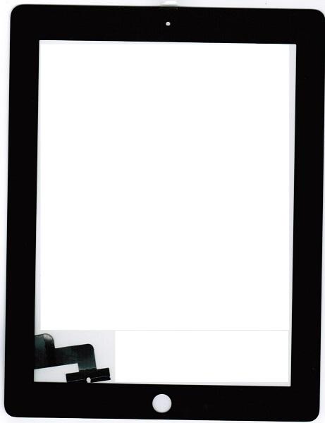 Тачскрин планшета iPad 2 черный