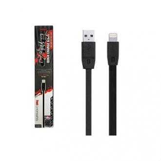 USB кабель IPhone 5/5S/5с/6/6plus/6s/7/lightning Remax черный (1м) в металической упаковке