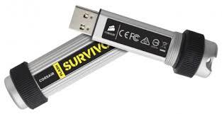 USB Flash накопитель 64Gb  CORSAIR Survivor USB3.0, серебристый и черный