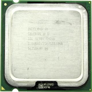 Процессор s.775 Intel Celeron D 331, 2.66ГГц, 256KБ, OEM