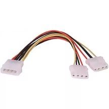 Переходник Gembird Molex Male - Molex x2 Female,0.15m