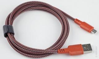 USB кабель usb-micro usb плоский нейлоновая ткань разноцветный (1м)