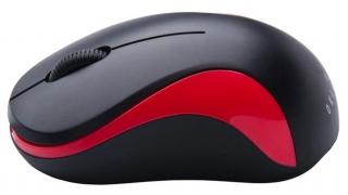 Мышь OKLICK 605SW оптическая беспроводная USB черно-красная